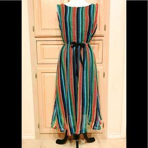 Eva Franco for Anthropologie Rainbow Crochet Dress